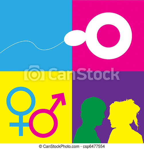 Sex Education Symbols - csp6477554