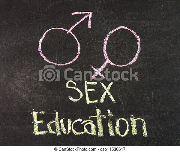 Sex education with gender symbols - csp11536617