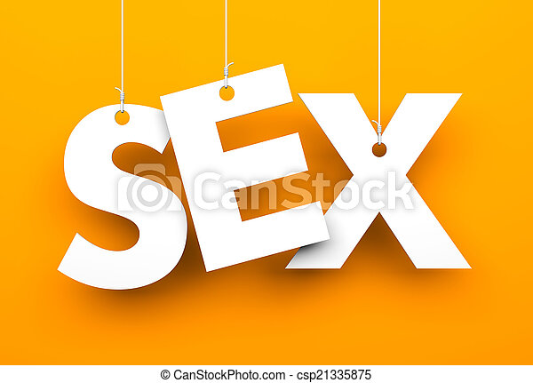 Sex. Letters on strings - csp21335875