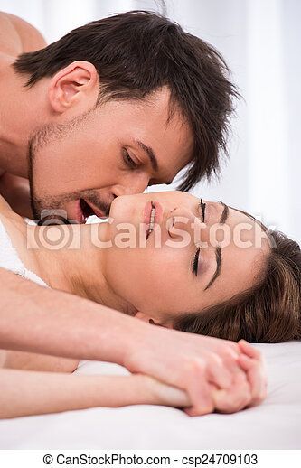 Bed room romance sex