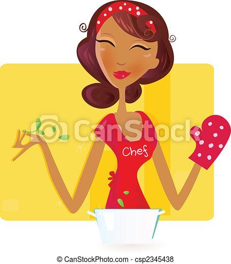 Sexi woman chef - csp2345438