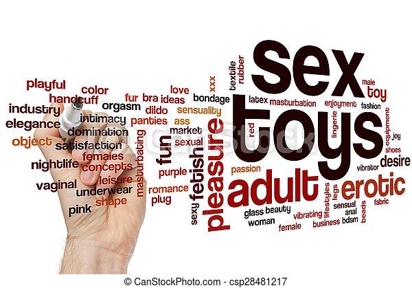 sexo, palabra, nube, juguetes - csp28481217