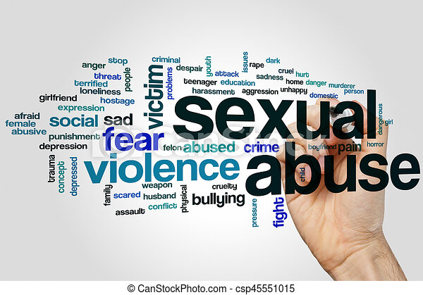 Sexual abuse word cloud - csp45551015