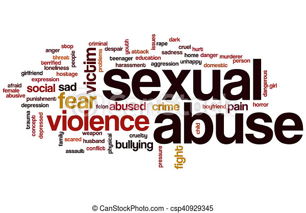 Sexual abuse word cloud - csp40929345