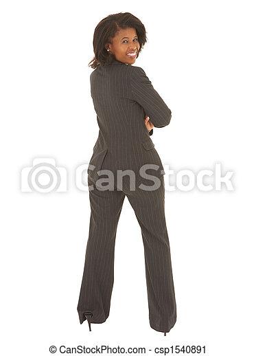 Sexy african businesswoman - csp1540891