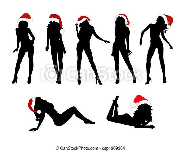 sexy christmas clip art