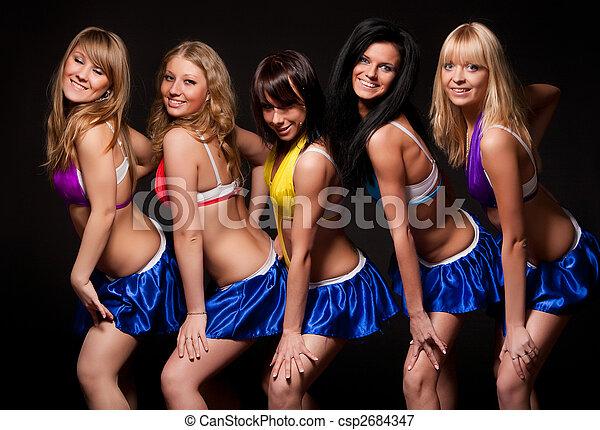 sexy, cinq, femmes - csp2684347