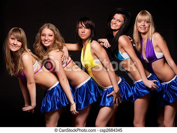 sexy, cinq, femmes - csp2684345