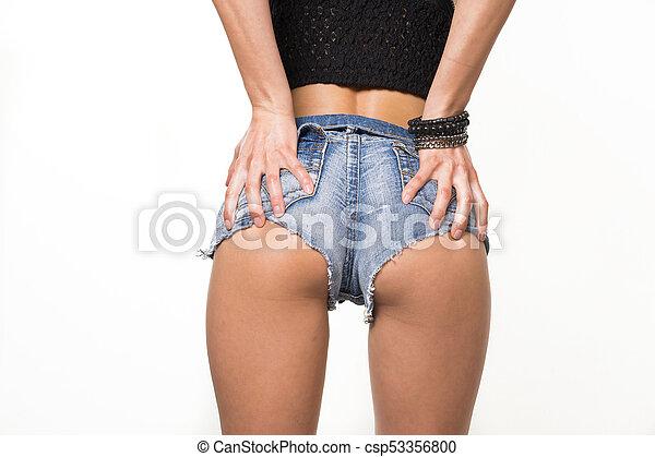 Sexy jean booty shorts