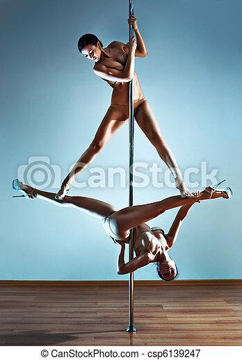 sexy, deux femmes - csp6139247