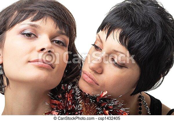 sexy, deux femmes - csp1432405
