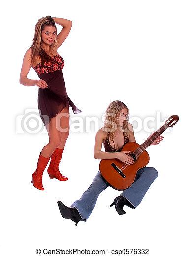 sexy, deux femmes - csp0576332
