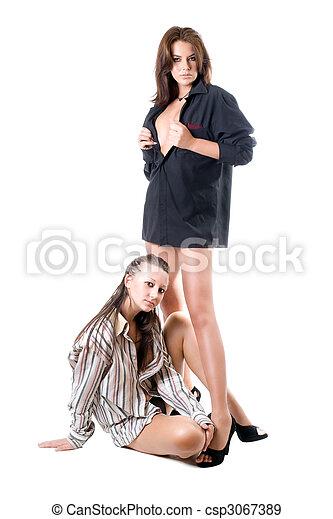 sexy, deux femmes - csp3067389