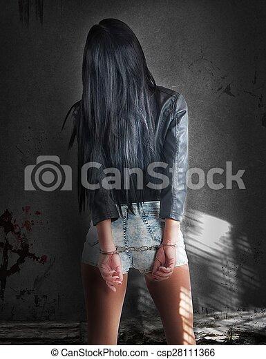 sexy, donna, colpevole - csp28111366