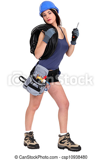 Sexy, elektriker, weibliche Bilder - Fotografien und Foto Clipart ...