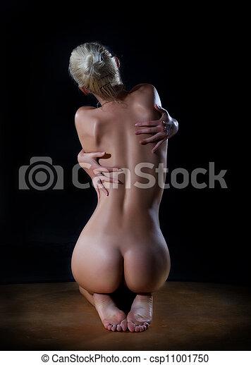 back Nude female