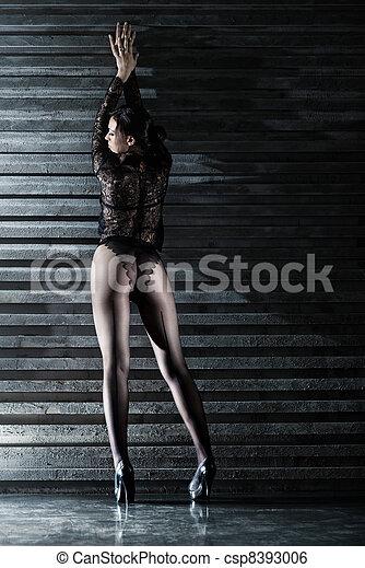 sexy, femme, jeune - csp8393006