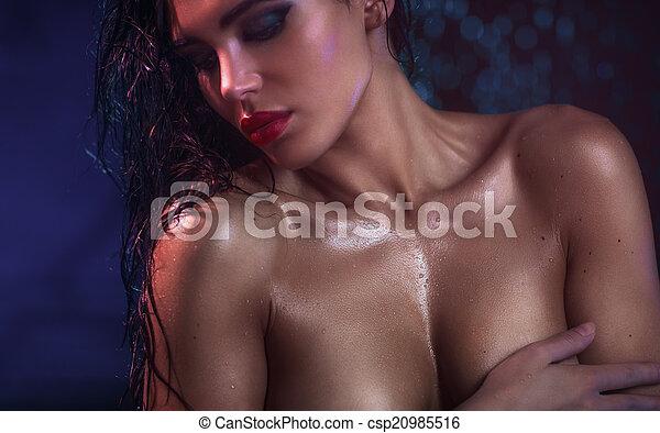 sexy, femme, jeune - csp20985516