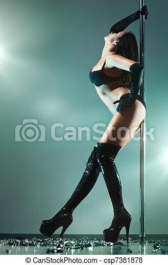 sexy, femme, jeune - csp7381878