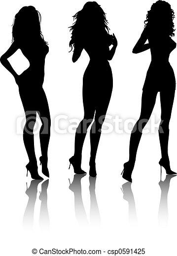 sexy, femmine - csp0591425