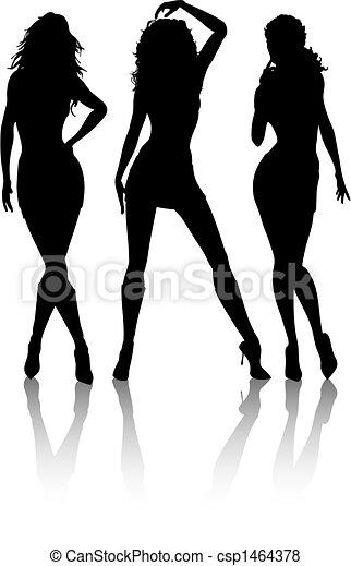 sexy, femmine - csp1464378