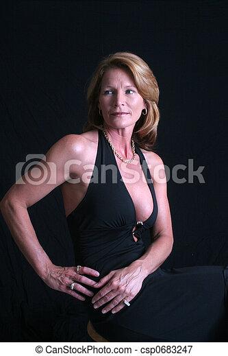 Sexy reife Geschäftsfrau