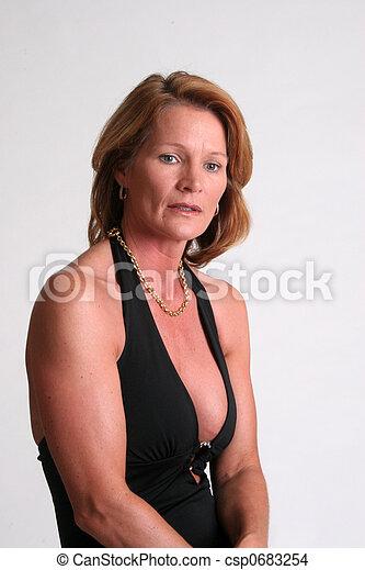 Sexy Frau Hübsch Fällig