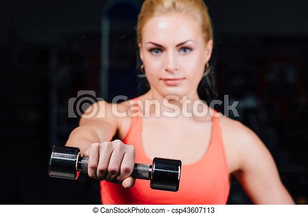 Sexy girl biceps