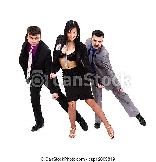 sexy, groep, zakenlui - csp12003819