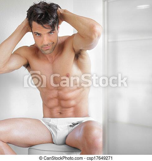 Sexy guy undressed - csp17649271