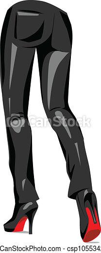 Ilustración de pantalones sexy - csp10553424