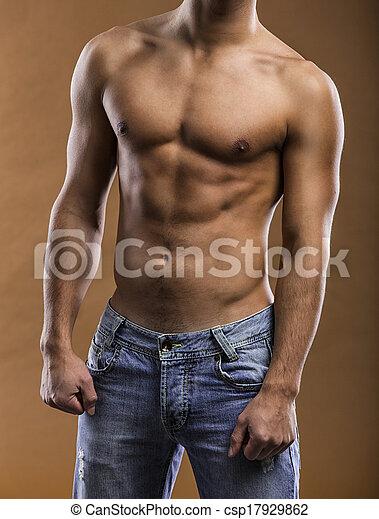 sexy, junger mann - csp17929862
