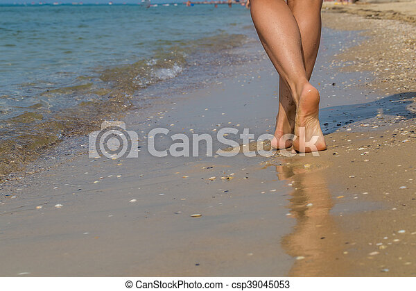 Sexy feet at the beach