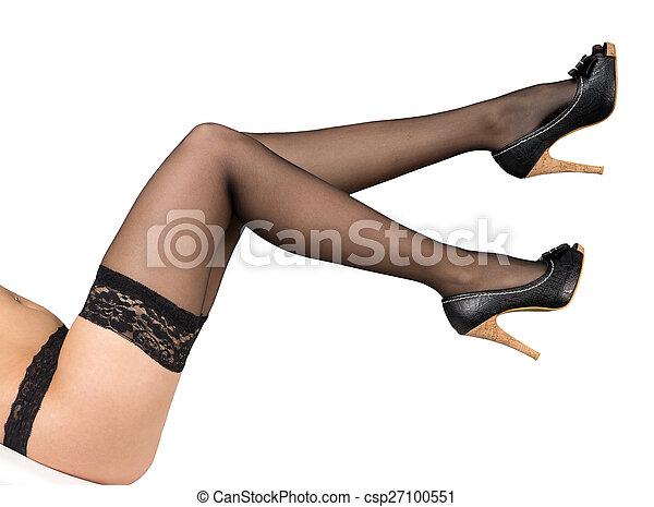 High heel pantyhose stocking