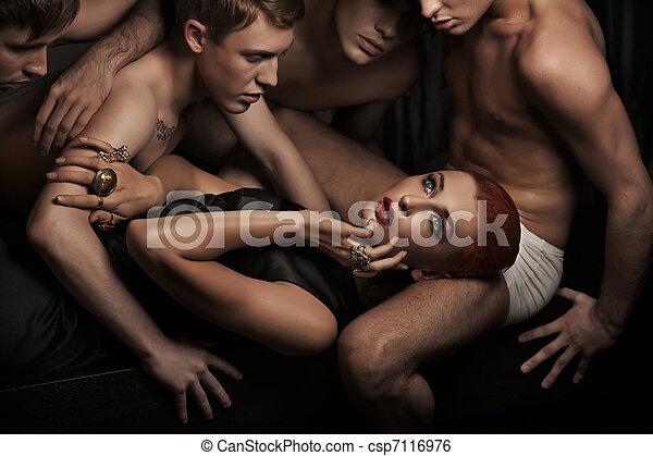 sexy, ludzie - csp7116976