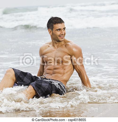 Sexy men on the beach