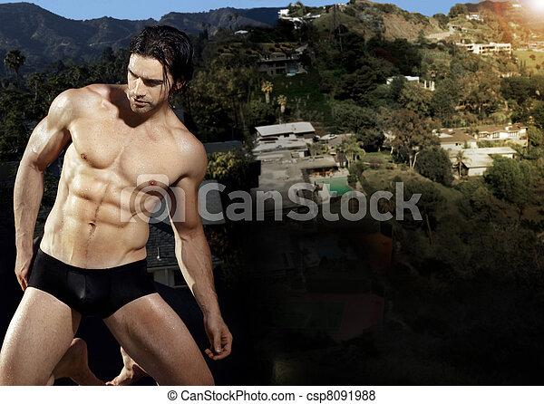 Sexy man in underwear - csp8091988