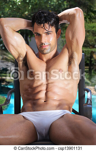 Sexy man outdoors - csp13901131
