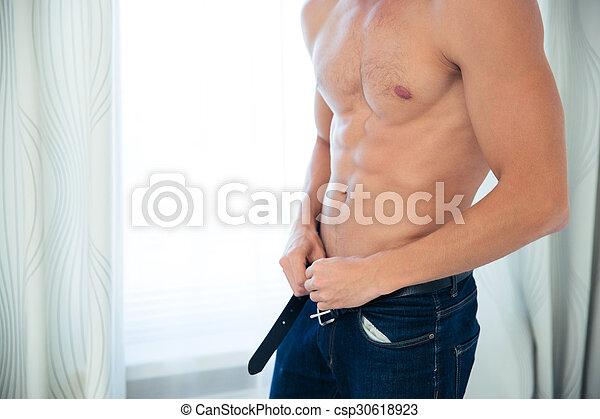 sexy, mannelijke , torso - csp30618923