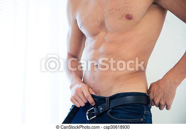 sexy, mannelijke , torso - csp30618930