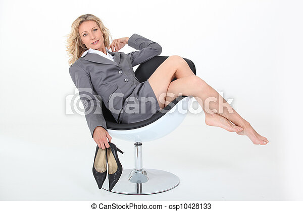Sexy mature woman relaxing - csp10428133