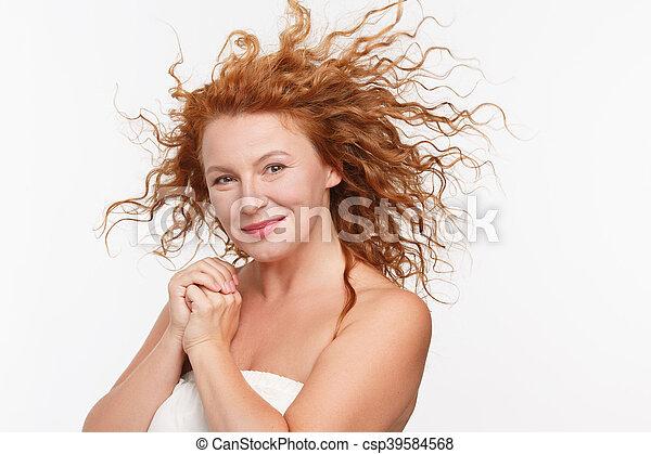 Sexy mature woman - csp39584568