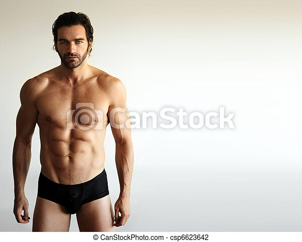 sexy, model, mannelijke , fitness - csp6623642