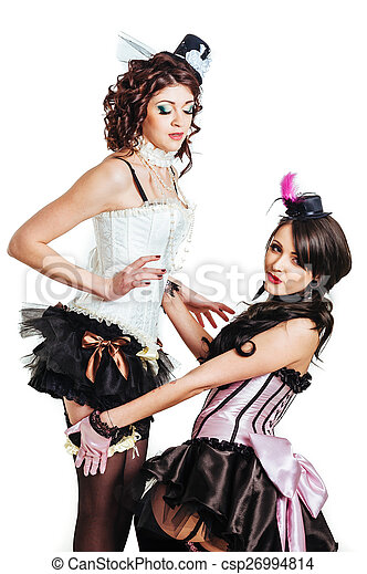 Lesbians lingerie glamor