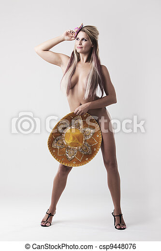 girl covered Nude