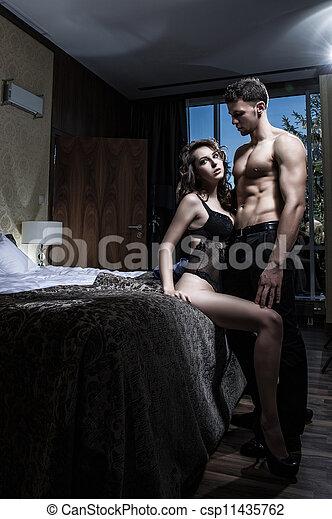 sexy, paar, elegantie - csp11435762