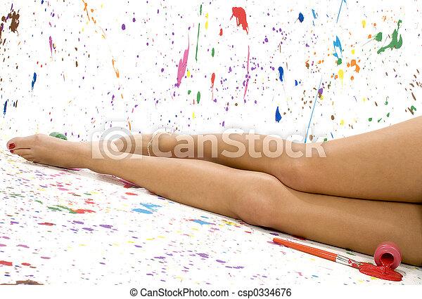 sexy, piernas - csp0334676