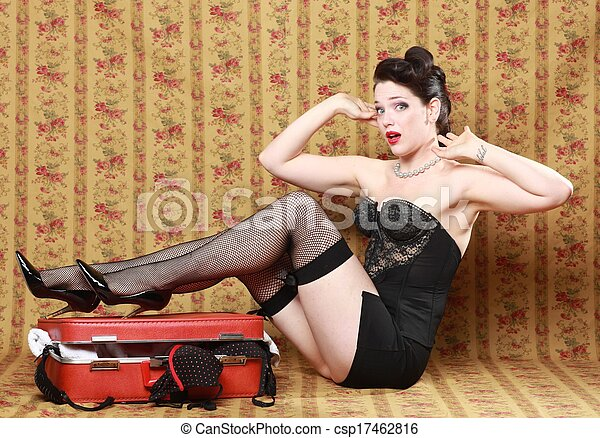 Sexy Pinup Style Vintage Image - csp17462816