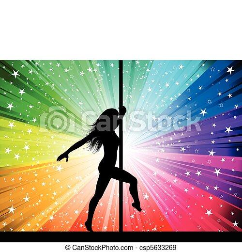 sexy, polo, ballerino - csp5633269