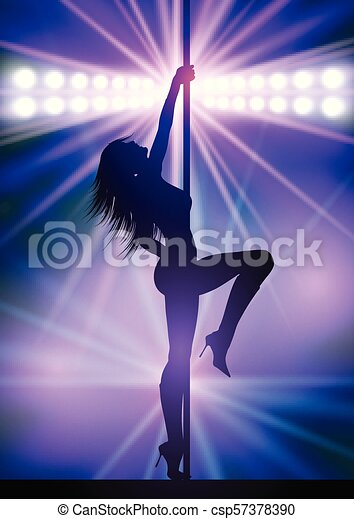 Bailarín sexy en barra 2804 - csp57378390